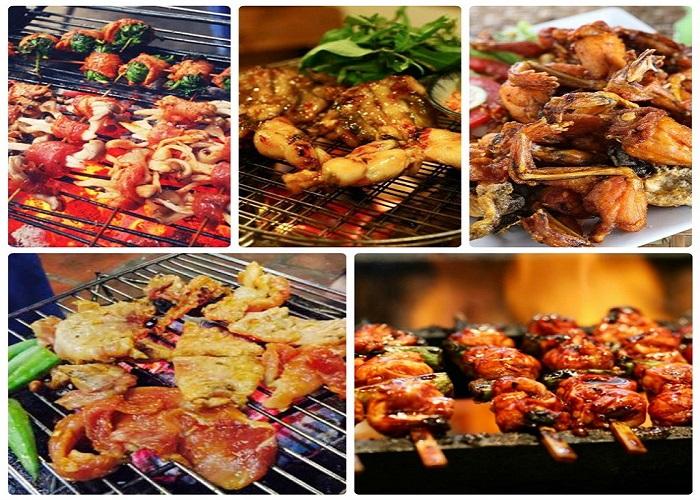 Độ nướng tại quán ăn ChinKu