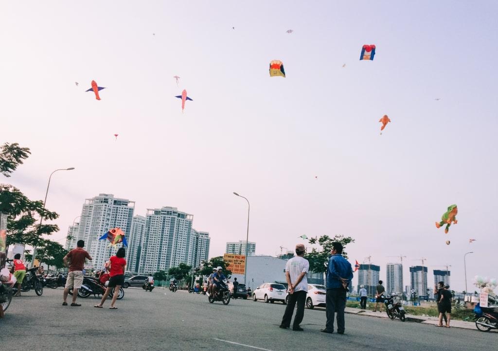 Các bãi thả diều ở Sài Gòn